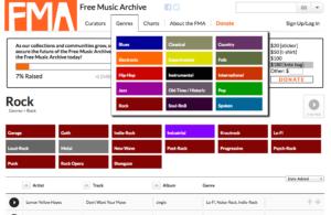 library freemusic archive audio video